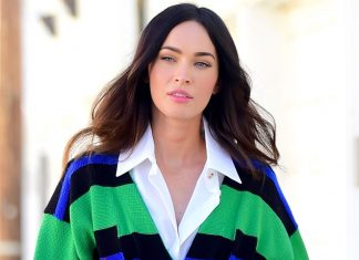 megan-fox-wore-an-oversize-button-down-as-a-dress-and-pulled-it-off-perfectly